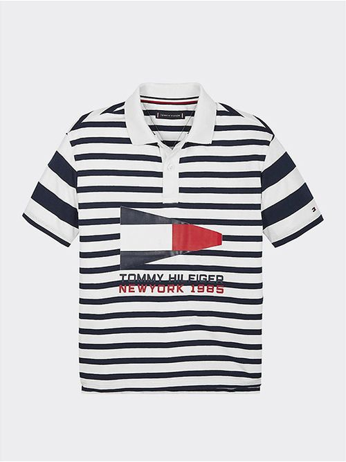 Polo-de-rayas-nauticas-con-logo-1985-Tommy-Hilfiger
