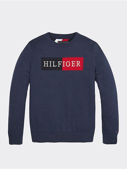 Jersey-Essential-de-algodon-con-logo-en-intarsia-Tommy-Hilfiger