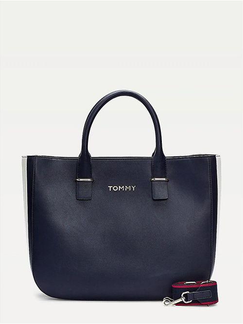 Bolso-satchel-con-logo-metalico-Tommy-Hilfiger
