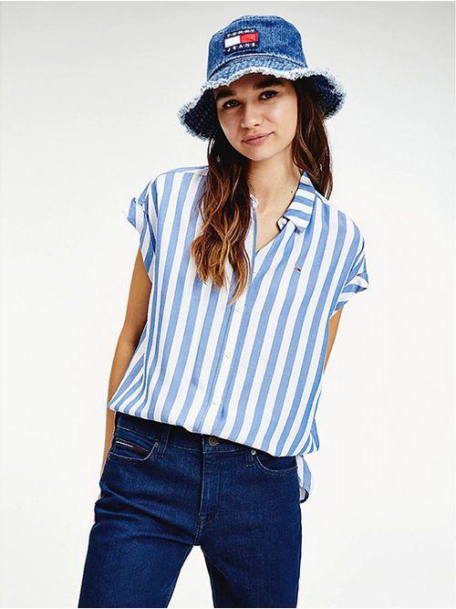 Camisa-de-manga-corta-con-diseño-de-rayas-Tommy-Hilfiger