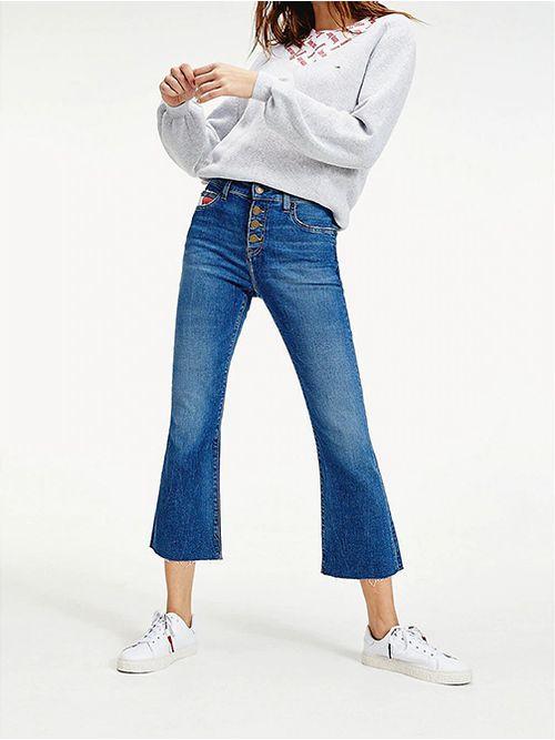 Jeans-Katie-con-pernera-acampanada-y-bajo-sin-rematar-Tommy-Hilfiger