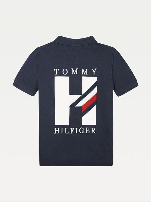 Polo-en-puro-algodon-con-aplicacion-de-logo-Tommy-Hilfiger