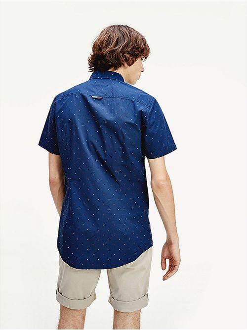 Camisa-de-manga-corta-con-estampado-de-puntos