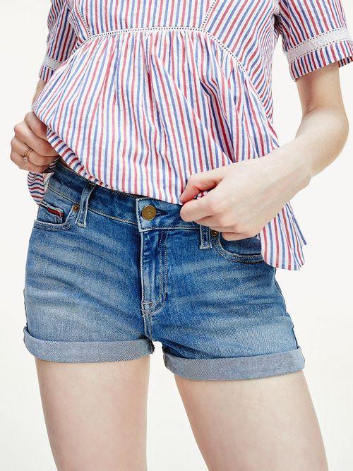 Pantalon-vaquero-corto-elastico-con-efecto-desteñido
