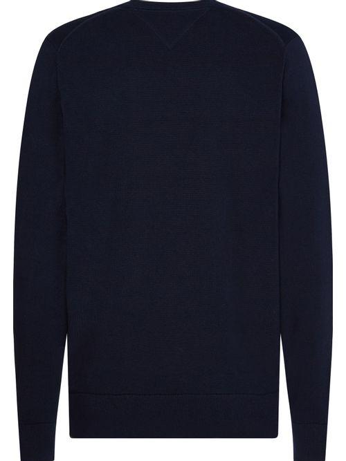 Jersey-de-algodon-con-cuello-V