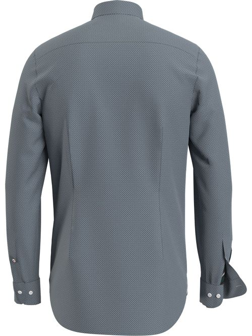Camisa-de-corte-slim-con-microestampado