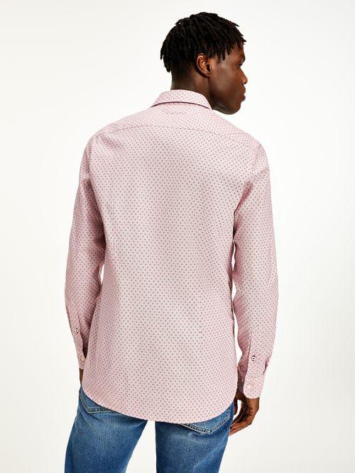 Camisa-con-estampado-de-cuadros-de-corte-slim