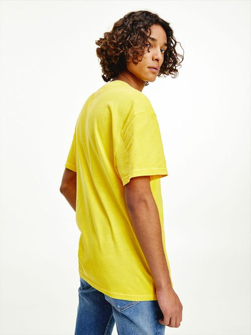 Camiseta-de-algodon-con-parche-de-Tommy