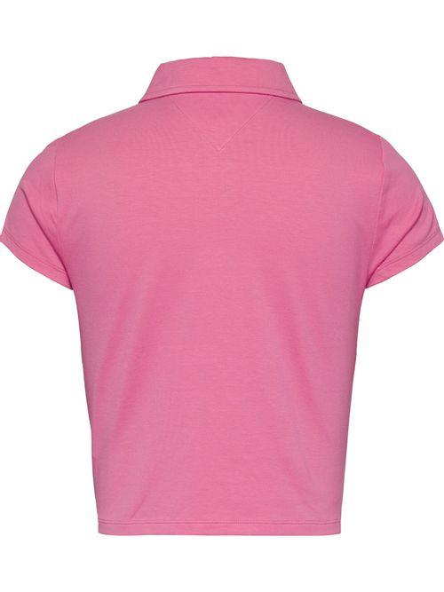 Polo-en-jersey-con-botones-delanteros-de-corte-cropped
