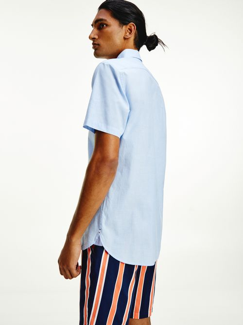 Camisa-de-popelin-con-manga-corta