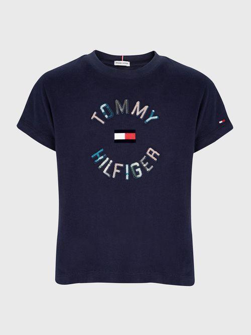 Camiseta-con-logo-de-lentejuelas