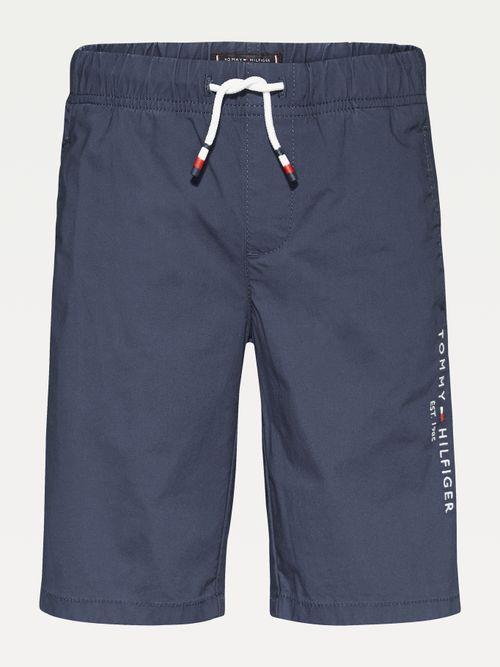 Pantalon-corto-de-popelin-con-logo